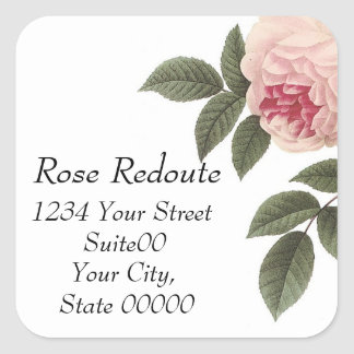 Redoute Rose Adderss Sticker
