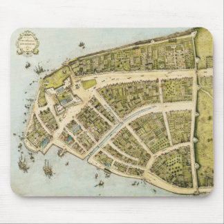 Redraft of the Castello Plan New Amsterdam in 1660 Mouse Pad