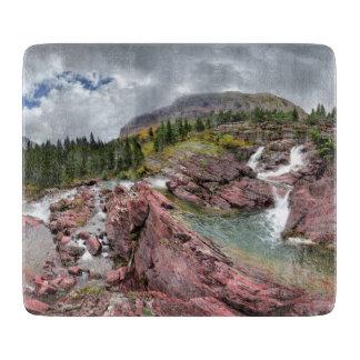 Redrock Falls - Glacier National Park Cutting Board