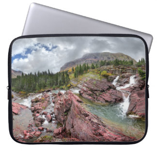Redrock Falls - Glacier National Park Laptop Sleeve