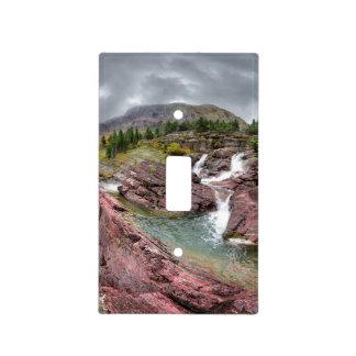 Redrock Falls - Glacier National Park Light Switch Cover