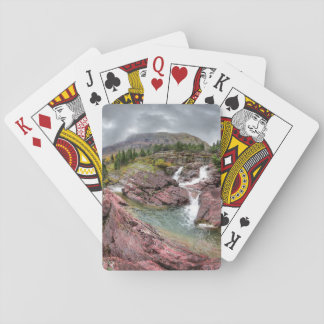 Redrock Falls - Glacier National Park Playing Cards
