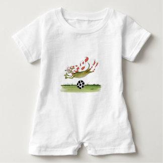 reds soccer dog baby romper