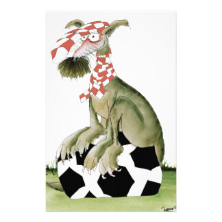 reds soccer dog happy supporter stationery