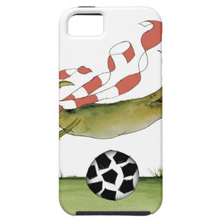 reds soccer dog iPhone 5 cover
