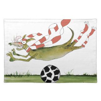 reds soccer dog placemat