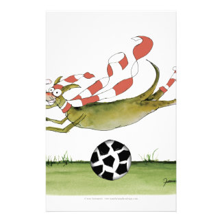 reds soccer dog stationery