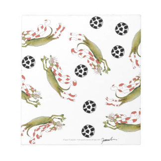 reds soccer dogs notepad