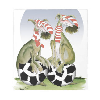 reds soccer dogs when saturday comes notepad