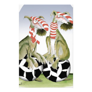 reds soccer dogs when saturday comes stationery