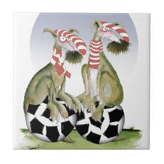 reds soccer dogs when saturday comes tile