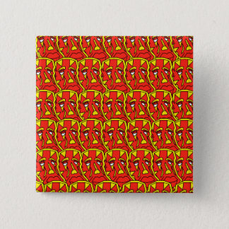 Redskin 2 Inch Square Button