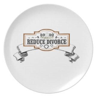 reduce divorce 50 50 custody plate