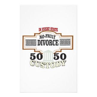 reduce divorces automatic 50 50 custody stationery