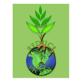 Reduce Recycle Releaf Postcard