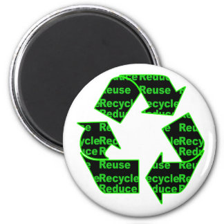 reduce reuse recycle 2 inch round magnet