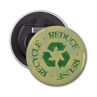 Reduce Reuse Recycle Bottle Opener