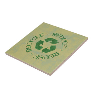 Reduce Reuse Recycle Ceramic Tiles