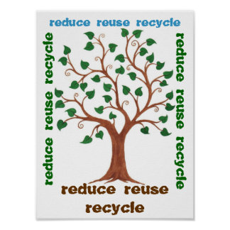 Reduce, Reuse, Recycle - Customizable Poster
