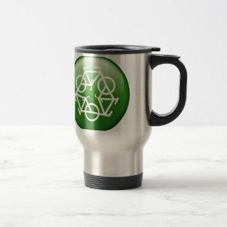Reduce Reuse Recycle Green Bicycle Travel Mug