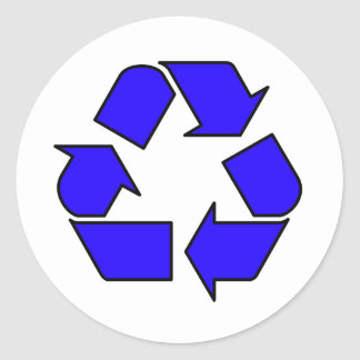 Reduce Reuse Recycle Logo Symbol Arrow 3R Classic Round Sticker