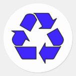 Reduce Reuse Recycle Logo Symbol Arrow 3R Round Sticker