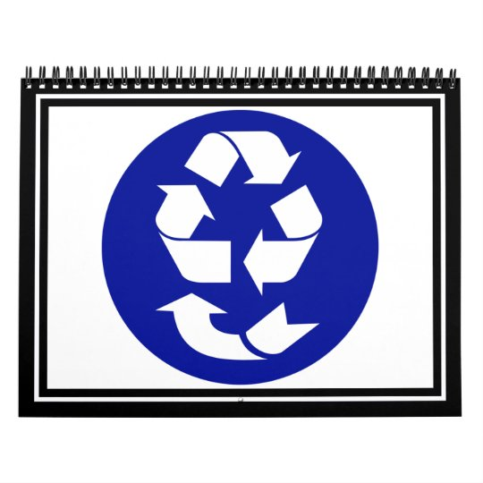 Reduce Reuse Recycle Recover Symbol (4 Rs) Calendar