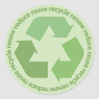 Reduce Reuse Recycle Renew Stickers