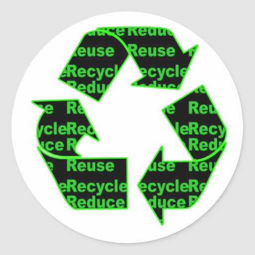 reduce reuse recycle stickers