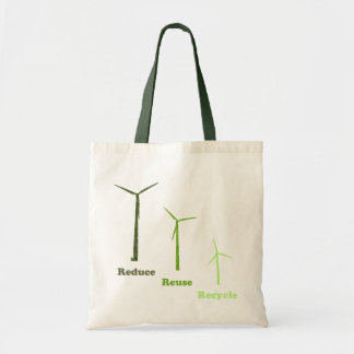 Reduce Reuse Recycle Wind Energy Reusable Bag
