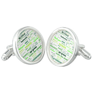 Reduce, Reuse, Recycle Word Cloud Cufflinks