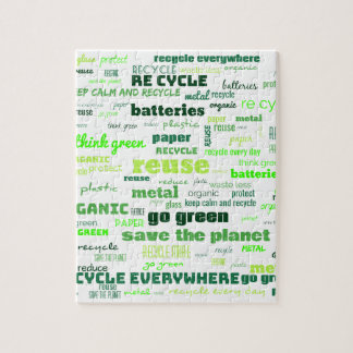 Reduce, Reuse, Recycle Word Cloud Jigsaw Puzzle
