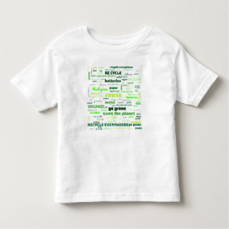 Reduce, Reuse, Recycle Word Cloud Toddler T-shirt