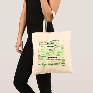 Reduce, Reuse, Recycle Word Cloud Tote Bag
