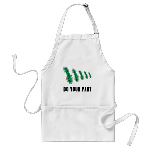 Reduce Your Carbon Footprint Apron