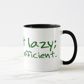 Reduce your carbon footprint; be energy efficient. mug