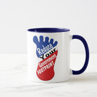 Reduce Your Government Footprint Funny Mug