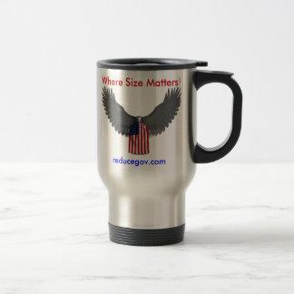 Reducegov.com Coffee Mug Where Size Matters