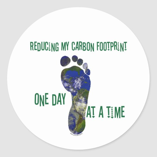 Reducing my carbon footprint t-shirts and gifts. classic round sticker