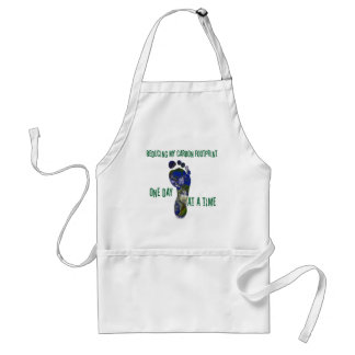 Reducing my carbon footprint t-shirts and gifts. standard apron