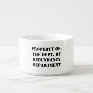 Redundancy Department Property Bowl