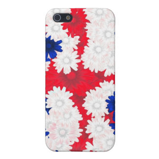 Redwhite,blue floral case for iPhone 5/5S