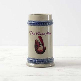 redWine, The Wine Man 18 Oz Beer Stein