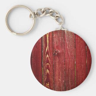 redwood basic round button keychain