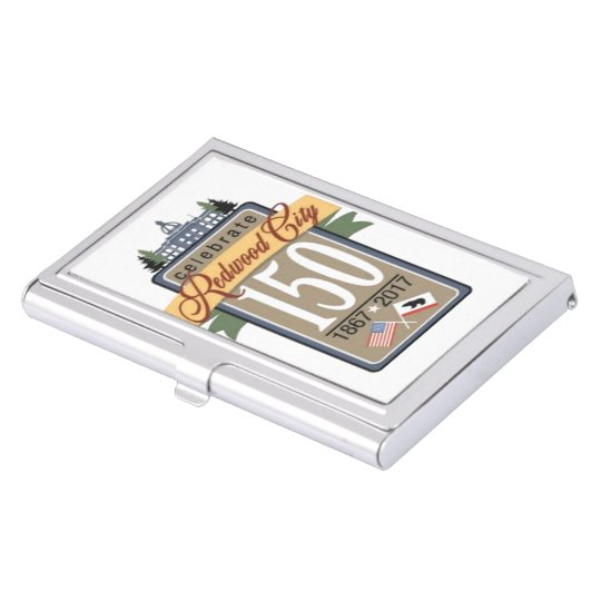 Redwood City 150th Anniversary Business Card Holders