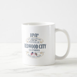 Redwood City, California 150th Anniversary Mug