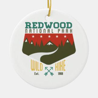 Redwood National Park Ceramic Ornament