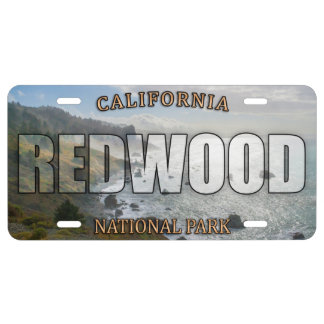 Redwood National Park License Plate