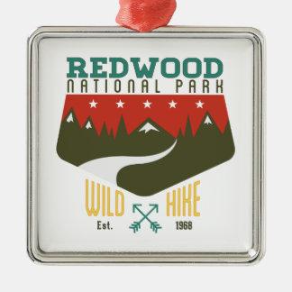 Redwood National Park Metal Ornament