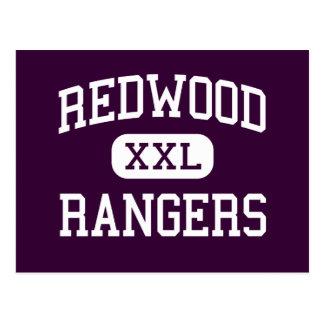 Redwood - Rangers - High - Visalia California Postcard